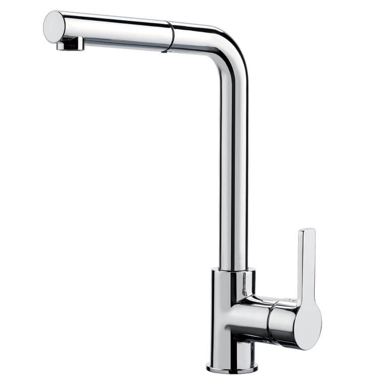 F7029NCR - Kitchen mixer with extractable handshower